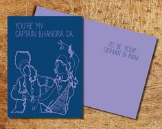 Bhangra & Gidha Love Cards by VibranceDesigns on Etsy, $5.00