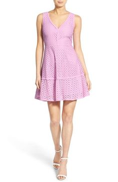 cupcakes and cashmere 'Matilda' Eyelet Fit & Flare Dress available at #Nordstrom