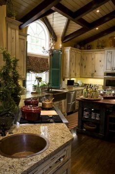Love this kitchen. Want this kitchen.
