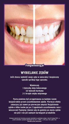 TĄ METODĄ BEZPIECZNIE WYBIELISZ SWOJE ZĘBY A PRZYGOTUJESZ JĄ W 2 MINUTY SAM/A! Beauty Care, Diy Beauty, Beauty Hacks, Tips And Tricks, White Teeth, Natural Cosmetics, Good Advice, Healthy Tips, Good To Know