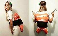 Inspiration, alle Accessoires und eine Schmink-Anleitung, damit du dein Nigiri Sushi Kostüm selber machen kannst.
