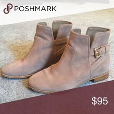 Michael kors ankle boots Beige color good condition no stains. Suede material Michael Kors Shoes Ankle Boots & Booties