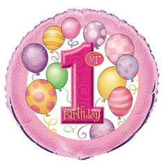 1st Birthday Pink 18 Foil Balloon Infant -- To view further for this item, visit the image link. (This is an affiliate link)
