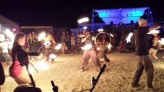 Fire Dancing at Black Rock City, Nevada