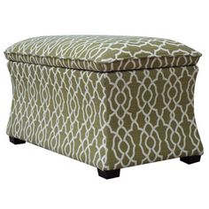 Abbey Storage Bench in Basil - under foyer console table