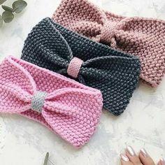15 ideas crochet baby girl hat pattern bows for 2019 Crochet Baby Hat Patterns, Knit Headband Pattern, Crochet Bows, Crochet Headband Pattern, Baby Girl Crochet, Knitted Headband, Baby Patterns, Beanie Pattern, Bonnet Crochet