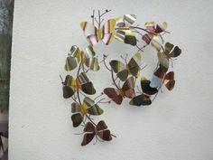 Motyle - ozdoba na ścianę z metalu