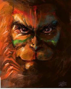 No photo description available. Hanuman Images Hd, Hanuman Ji Wallpapers, Hanuman Photos, Shiva Lord Wallpapers, Shri Ram Wallpaper, S8 Wallpaper, Hanuman Tattoo, Hanuman Chalisa, Lord Shiva Painting