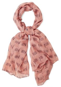 Hoot on a Feeling Scarf. Your spirit will soar the moment you perch this owl-printed scarf upon your neck! #pinkNaN
