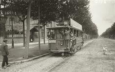 Tranvía de la línea Collblanch-Sants estación. Barcelona, c.1920- Josep Brangulí (Hospitalet de Llobregat 1879 – 1945),