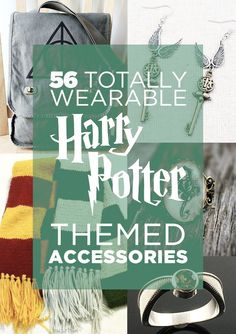 How awesome is this?!  56 Totally Wearable Harry Potter-Themed Accessories haha, I have the last one in blue!