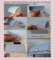 Tutorial how to make easy dollhouse awning. Want to join follow my blog? Follow me and i follow you:)