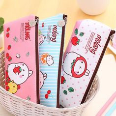 Wholesale Kawaii Cute Molang Rabbit Pu Leather Pencil Case Stationery Storage Box School Office Supply Escolar Papelaria Pouch Cosmetics Dog Pencil Case Metal Pencil Box From Happylights, $18.76| Dhgate.Com