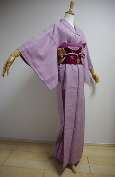 Kimono Dress Japan Geisha Vintage fabric Bonus obi & ribbon S/F KDJM-A0062