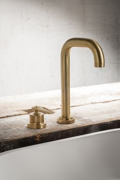Landmark Pure 2 hole basin mixer in the finish urban brass. Bauhaus Design, Basin Mixer, Minimalist Bathroom, Solid Brass, Pure Products, Faucets, Urban, Collection, School
