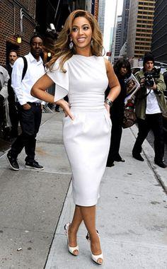 gorgeous, flutter-sleeve Elie Saab dress and Tony Maticevski peep-toe shoes.