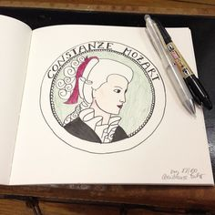 I'm not sure if I was named after Constanze Mozart but I like the idea. Day 82 of #the100dayproject #constanzemozart