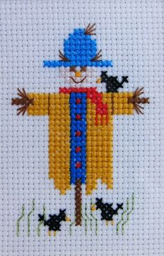 Sammy Scarecrow Complete Counted Cross Stitch Kit to Make up   Etsy