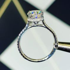 The best Moissanite diamond engagement rings online for men and women are available here, come explore. Cute Engagement Rings, Round Diamond Engagement Rings, Designer Engagement Rings, Engagement Ring Settings, Most Popular Engagement Rings, Tacori Engagement Rings, Wedding Ring Designs, Wedding Ring Bands, Wedding Rings Solitaire