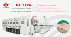 K4 - Computerized Flexo Printing Slotting Die Cutting Machine  ● PLC control system with touch screen control.  ● Able to save order,speed up the order shift.  ● All electronic and pneumatic components are woth European standards.  ● Able to facilitate the production management.  http://klcartonmachinery.com/k4-flexo-printing-slotting-machine