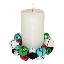 jingle bell candle holder