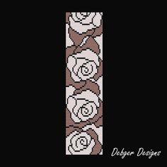 Bead Pattern LoomBracelet CuffTimeless Roses 2 от LoomTomb на Etsy
