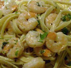 The Kitchen Witch: Saturday Evening Pasta - Linguini with Shrimp and Scallops in Lemon Cream Sauce