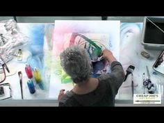 ▶ Watercolor Tips with Mary Ann Beckwith - The Spray Bottle - YouTube