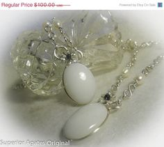 On Sale White Opal Wire Wrapped Matching Set by superioragates