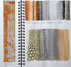 Fashion Textiles Sketchbook - exploring colour, pattern and texture inspirations from nature