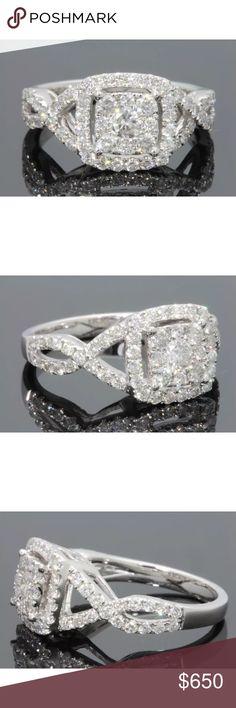 Beautiful 1.40 carat 10k white gold diamond ring Beautiful 1.40 carat 10k white gold diamond ring Jewelry Rings