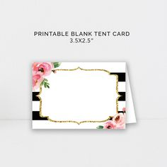 Kate Spade Party Food Tent Cards Printable