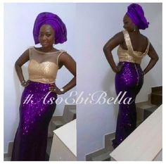 Gold & Purple Sequins