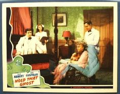 Abbott & Costello Vintage Movie Posters Abbott & Costello 1941 Hold That Ghost Rare Lobby card Movie Poster. Our Vintage Abbott & Costello Collection: www.cvtreasures.com  $550