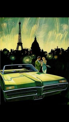 Artist rendering of a 67 Pontiac Grand Prix Convertible. This is the only year The Grand Prix was made in a Convertible!