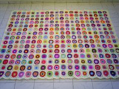 granny square blanket | WOW - enlarge and have a look at those colors!!