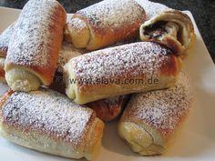 Panini al latte – Röllchen gefüllt mit Schokolade | kochen & backen leicht gemacht mit Schritt für Schritt Bilder von & mit Slava