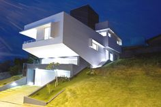 Modern Architecture Originally Adapted to a Steep Site