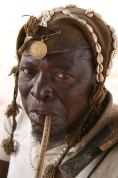 Africa |  A Village Chief photographed in Mali.  © Jotous