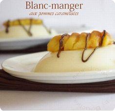 Blanc-manger aux pommes caramélisées