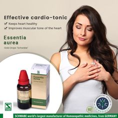 Schwabe essentia aurea gold drops keeps the heart healthy and improves muscular tone of the Check out its range of health benefits Homeopathic Remedies, Health Remedies, Chronic Heart Disease, Homeopathy Medicine, Health Tonic, Acupressure, Acupuncture, Heart Conditions, Health Benefits
