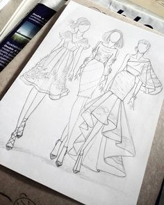 Next Post Previous Post Zeichnen und skizzieren. Fashion Design Inspiration, Fashion Design Portfolio, Fashion Design Drawings, Fashion Sketches, Fashion Figure Drawing, Fashion Drawing Dresses, Fashion Illustration Dresses, Drawing Fashion, Fashion Illustrations