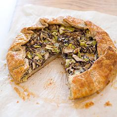 Mushroom and Leek Galette with Gorgonzola Recipe - America's Test Kitchen.  super easy and delish.  i substituted goat cheese.  will make this again for sure.