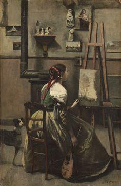Jean-Baptiste-Camille Corot - The Artist's Studio (1868)