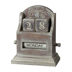 Sterling Industries 89-8011 Washed Wood Date Keeper