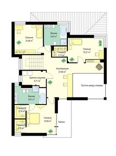 Светлый двухэтажный коттедж с большим гаражом и террасой S8-240-2 (Ривьера 5). План 3. Shop-project Floor Plans, Projects, Modernism, Log Projects, Blue Prints, Floor Plan Drawing, House Floor Plans