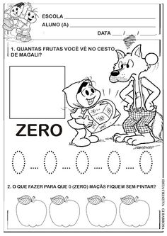 Atividades Contos de Fada Numerais Turma da Mônica para montar Sequência Didática | Ideia Criativa - Gi Barbosa Educação Infantil