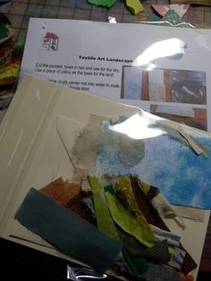card kit to craft your own original textile art landscape exclusive to HelenMoyesDesigns. Gift for crafter, Christmas gift, stocking filler by HelenMoyesDesigns on Etsy Create Your Own Card, Make Your Own, Create Yourself, Hemp Leaf, Fabric Glue, Card Kit, Colorful Pictures, Landscape Art, Craft Gifts