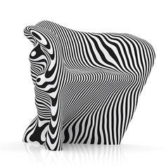 Paper Chair in zebra stripes by danish designer Mathias Bengtsson