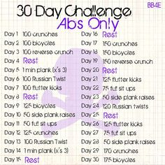 health and Beauty 4Ever: 30 Day Ab Challenge